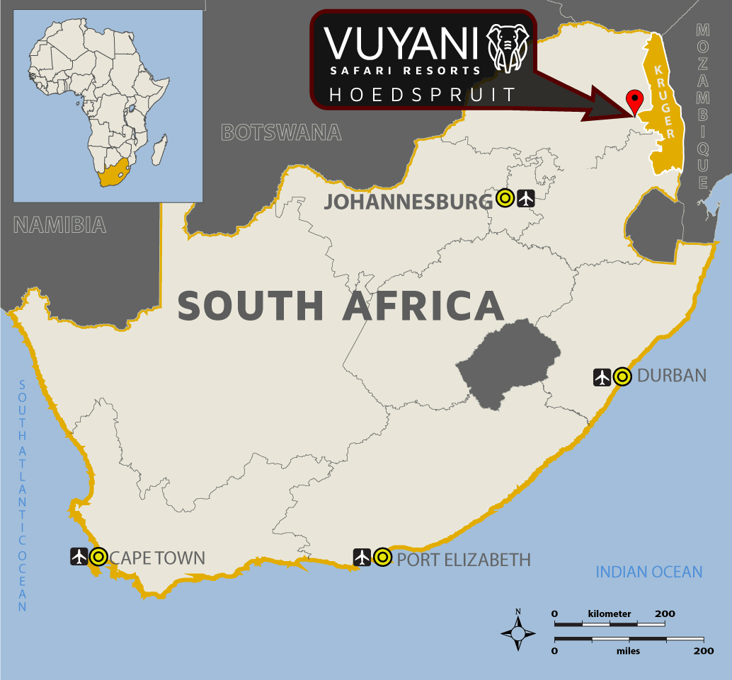 Vuyani Tented Camp Location